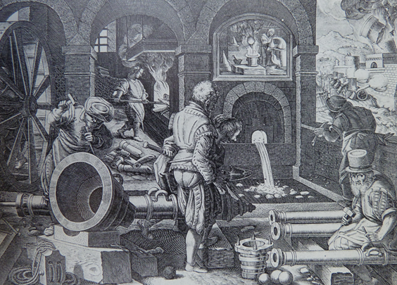 Fabrication of Cannon, Jean Stradan, 1620