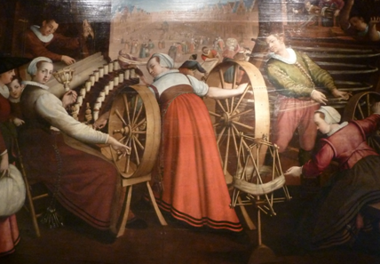 Isaac van Spanenburg - spinning, the Lakenhal in Leiden