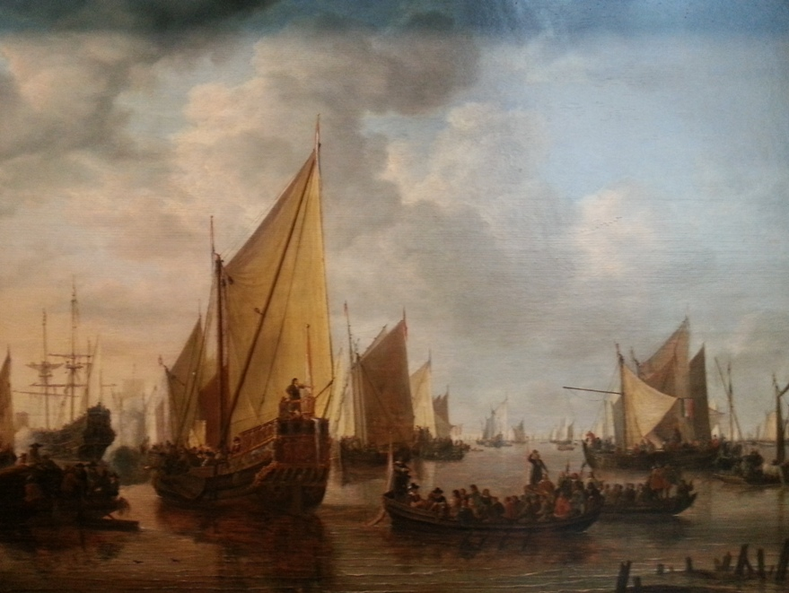 Simon de Vlieger - Visit of the Fleet (1649)