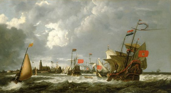 The Hercules and Enthoorn off Hoorn in the 1640s